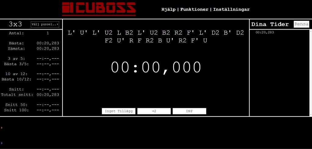 cuboss timer dark